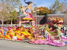 Pasadena, California, USA - January 1, 2010: The Tournament of Roses Parade was televised across the world.