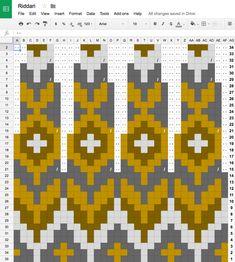Three Versions of Riddari - Her Crochet Fair Isle Knitting Patterns, Fair Isle Pattern, Knitting Charts, Loom Knitting, Knitting Stitches, Knitting Designs, Free Knitting, Baby Knitting, Knitting Tutorials