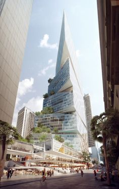 """© has won an international competition to design the Bridge Street"""" tower and masterplan for the Quay Quarter Sydney (QQS) precinct. Futuristic Architecture, Beautiful Architecture, Contemporary Architecture, Landscape Architecture, Interior Architecture, Ancient Architecture, Sustainable Architecture, Interesting Buildings, Amazing Buildings"""