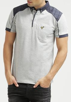 Voi Jeans GRANT - Poloshirt - grey - Zalando.nl Polo Fashion, Mens Fashion, Mens Golf Outfit, Everyday Dresses, Polo T Shirts, Men Looks, Mens Sweatshirts, Shirt Designs, Menswear