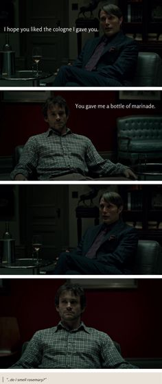 #Hugh Dancy & Mads Mikkelsen #Hannibal #captions