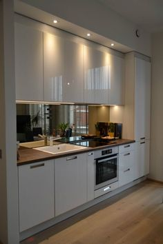 New Modern Kitchen Renovation Styles. Small luxury kitchen design with white wooden cabinet. New Modern Kitchen Renovation Styles. Small luxury kitchen design with white wooden cabinet.,Kitchen Design Do you have a small kitchen? Kitchen Room Design, Luxury Kitchen Design, Kitchen Cabinet Design, Home Decor Kitchen, Interior Design Kitchen, Home Kitchens, Kitchen Ideas, Kitchen Planning, Apartment Kitchen