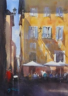 Roma, Italia XXVII by Keiko Tanabe Watercolor ~ 11 1/2 x 8 1/4 inches (29 x 21 cm) #watercolor jd