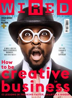 Wired August 2013 cover, featuring entrepreneur and all-round creative will.i.am #wired #will.i.am