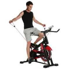 Exercise Bike Stationary Upright Fitness Workout Cycling Indoor