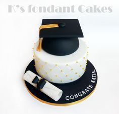 Graduation Cake. Vanilla cake, praline buttercream filling with caramelized hazelnuts & oreo cookies