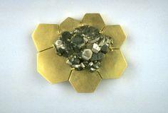 Klaus Burgel | gold & pyrite brooch