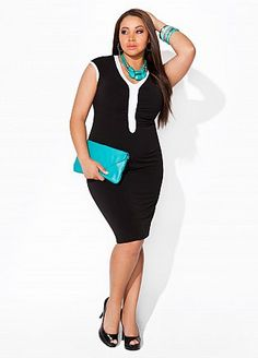 Business Fierce - Love the look and the pop of turquoise.