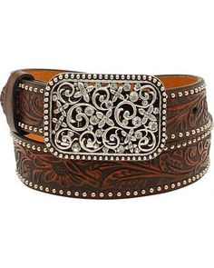 Strait City Trading Co Womens 1-1//2 Tan Leather Belt with Turquoise Buckle