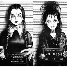 Wednesday Addams & Lydia Deets By Marcus Jones