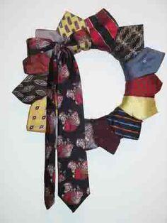 mish mash mom: Mishmash Necktie Wreath  DIY