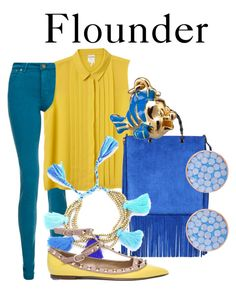 """Flounder"" by disneyandsuch ❤ liked on Polyvore featuring dVb Victoria Beckham, Monki, Gucci, Valentino, Disney, Henri Bendel, disney, thelittlemermaid and WhereIsMySuperSuit"