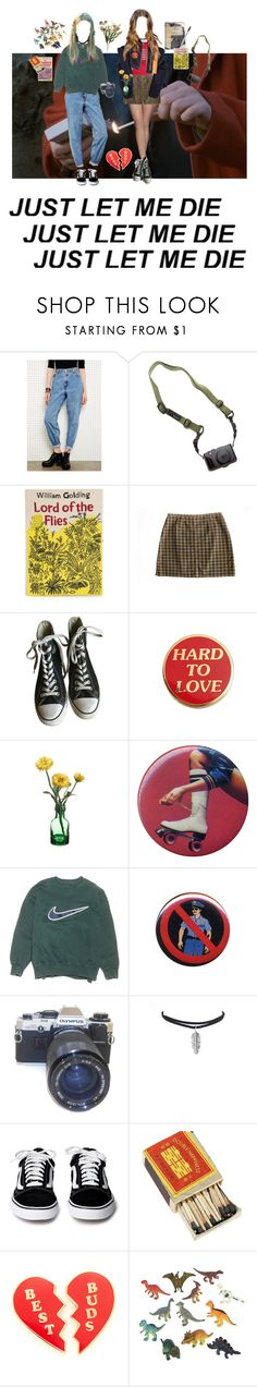 """You want a mosh-pit in the Courtyard"" by short-skirt-long-jacket ❤ liked on Polyvore featuring Levi's, DSPTCH, Plane, Olympia Le-Tan, Converse, NIKE, Ultimate, Georgia Perry, Dinosaurs and Abigail Ahern"