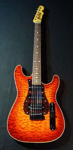 "Custom Built Electric Guitar ""The Testarossa"""