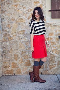 black red white brown