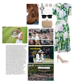 """Attends the Ladies' Singles Final at the Centre Court"" by ameliaofunitedkingdom ❤ liked on Polyvore featuring Dolce&Gabbana, Miu Miu, Cartier, Elsa Peretti and Ray-Ban"