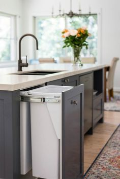 Romantic Large Open Plan Kitchen - Just in Place Blog Kitchen Island Bench, Large Kitchen Island, Kitchen Reno, New Kitchen, Kitchen Remodel, Kitchen Cabinets, Kitchen Ideas, Kitchen Designs, Shaker Style Kitchens