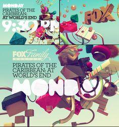 Beautiful palette + look Web Design, Typo Design, Design Art, Branding Design, Tv Nation, Channel Branding, Ticket Design, Fox Illustration, 3d Typography