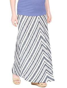b46268ffbdcba Motherhood Fold Over Belly Printed Maternity Maxi Skirt >>> Read  more