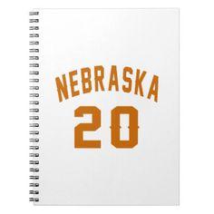 #Nebraska 20 Birthday Designs Spiral Notebook - #giftidea #gift #present #idea #number #twenty #twentieth #bday #birthday #20thbirthday #party #anniversary #20th