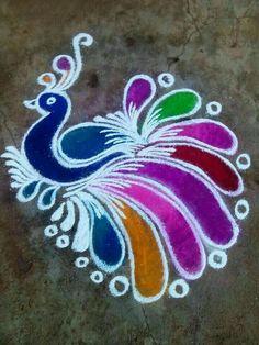 peacock rangoli designs for diwali Rangoli Designs Peacock, Rangoli Designs Latest, Small Rangoli Design, Rangoli Patterns, Rangoli Ideas, Rangoli Designs With Dots, Rangoli Designs Diwali, Rangoli Designs Images, Kolam Rangoli