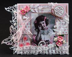 Vintage card with Maja Design