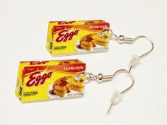 Eggo Waffle Earrings by KarinaMadeThis on Etsy, $5.00