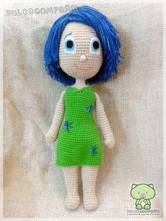 """ALEGRÍA (JOY) - de la película """"Intensamente"""" (Inside-Out) - Mide 54 cm. - Realizado por Dulce Compañía en base al patrón de Sabrina's Crochet"""