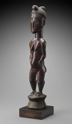 Female figure (blolo bla), Unidentified artist, Baule peoples, Côte d'Ivoire, 20th century
