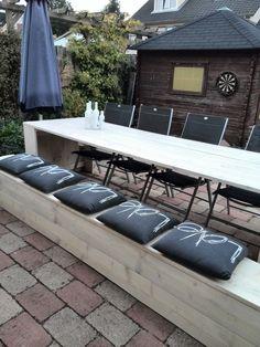 Tuinbankje Outdoor Sofa, Outdoor Furniture, Outdoor Decor, Home Decor, Interior Design, Home Interior Design, Yard Furniture, Garden Furniture, Home Decoration