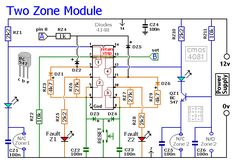 Schematic Diagram Of The Two-Zone Expansion Module Diy Electronics, Electronics Projects, Intruder Alarm, Universal Motor, Motor Speed, Alarm System, Home Automation, Tech Gadgets, Arduino
