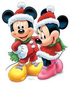 disney mickey and minnie mouse christmas standup red