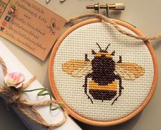 Digital download pattern to make a very cute Melli the Bee cross stitch. When you have finished he will be 7cm x 5cm. * kit available! Please choose SMALL KIT from my shop  This is a counted cross stitch pattern, no materials are included in the price such as thread or fabric. The PDF will be available for you to download when the payment has been confirmed and includes the following:  1. Little Beach Hut cross stitch guide for beginners, a guide to cross stitch with hints and tips and…