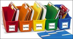 Great way to organize materials.