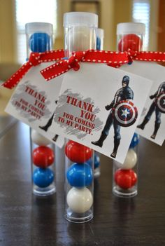 Captain America party favors