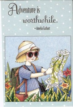 Adventure Is Worthwhile Tourist Trail Map Fridge Magnet Mary Engelbreit Artwork
