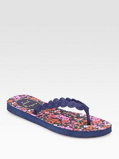 Jack Rogers - Smith Floral Thong Sandals - Saks.com