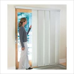 never knew these existed vertical blind patio door