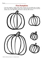 This autumn printable asks children to organize pumpkins in order of size. http://www.teachervision.fen.com/halloween/printable/52191.html #earlylearning #pumpkins #autumn #fall