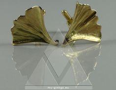 Ginkgoblatt Manschetenknöpfe - my Ginkgo Schmuck 750 Gold Hamburg