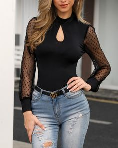 Blouse Women 2019 Plus Size S-XL Summer Haut Femme Blusa Blusas Mujer Lace Fashion Perspective Splice Long Sleeve Lace блузки Moda Chic, Long Sleeve Turtleneck, Look Fashion, Latest Fashion, Cheap Fashion, Fashion Online, Trending Fashion, Fashion Trends, Blouse Styles