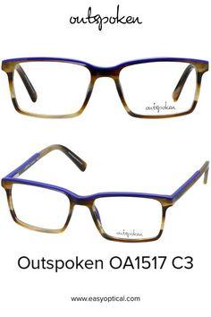 OUTSPOKEN OA1517 C3 Eyewear, Glasses, Easy, Men, Style, Swag, Eyeglasses, Eyeglasses, Guys