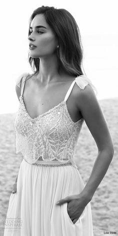 lihi hod bridal 2016 lucy sleeveless tie straps romantic wedding dress skirt pockers embellished bodice top