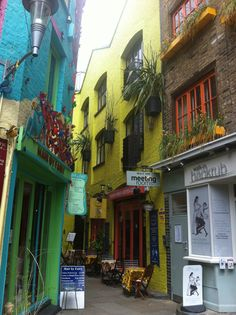 Neils Yard is a lovely little yplace in the centre of London (nearest tube stop is Covent Garden)