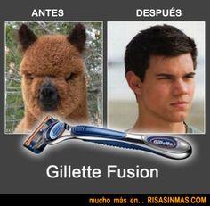 Antes y después de un buen afeitado.