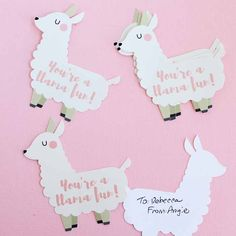 Print this funny Valentine for free then cut with your Cricut or with scissors. A cute llama Valentine that anyone will love!