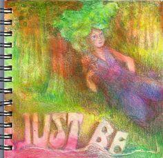 Journal52 2015 Prompt 2: Just Be #Journal52 #ArtJournal #ColoredPencil   lifeimitatesdoodles