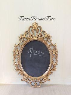 Baroque Chalkboard  by FarmHouseFare