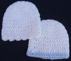 [Free Pattern] This Basic Infant Hat Adorably Makes A World Of Difference Finished size: Small Preemie - Newborn Materials: 1 ounce sport weight yarn (Bernat's Baby Coordinates White used for example), US size G h. Crochet Preemie Hats, Crochet Baby Hats Free Pattern, Crochet Baby Beanie, Crochet Bebe, Newborn Crochet, Baby Knitting, Crochet Patterns, Free Crochet, Crochet Ideas