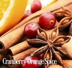 JUST SCENT CRANBERRY ORANGE SPICE Fragrance Oil - A super strong blend of cranberry and orange loaded with cinnamon, cardamom, nutmeg and clove.  Super strong in soy and safe for Bath and Body if used at less than 2% PHTHALATE FREE Vanillin Content - 0.5% 165 Degree FP - NO INTERNATIIONAL SHIPPING Vegan Friendly